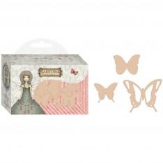 Фигурки деревянные Wooden Butterflies, Mirabelle, Santoro, SNWC002