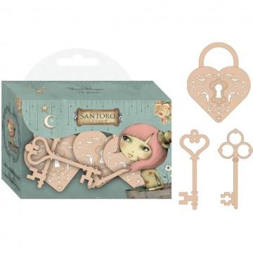 Купить Фигурки деревянные Wooden Keys, Mirabelle, Santoro, SNWC001