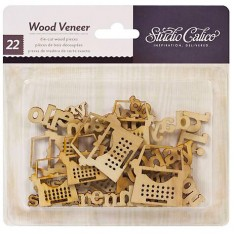 Деревянные фигурки Wood Veneer, Heyday - My Type, Studio Calico, 331100