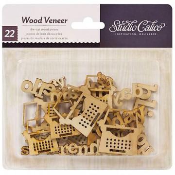 Купить Деревянные фигурки Wood Veneer, Heyday - My Type, Studio Calico, 331100