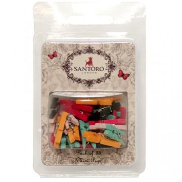 Купить Прищепки миниатюрные Mirabelle, Santoro, SNPG001