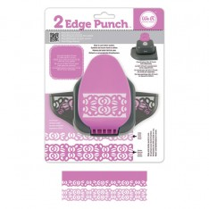 Бордюрный дырокол 2 Edge Punch - Rose, We R Memory Keepers, 71325-8