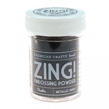 Купить Пудру для эмбоссинга Metallic Pewter Zing! embossing powder, 27159