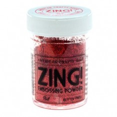 Пудра для эмбоссинга Red Glitter Zing! embossing powder, 27153