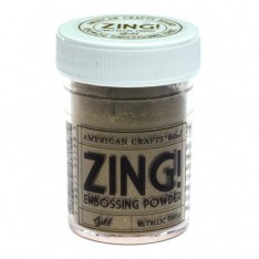 Пудра для эмбоссинга Metallic Gold Zing! embossing powder, 27158