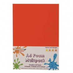 Вспененная резина декоративная Yellows and Oranges Multiple Pack, A4, Dovecraft, DCFM008