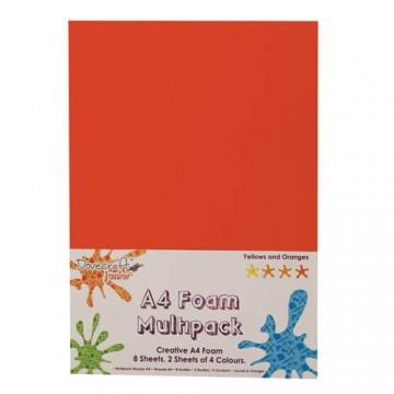 Купить Вспененная резина декоративная Yellows and Oranges Multiple Pack, A4, Dovecraft, DCFM008