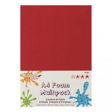 Купить Вспененная резина декоративная Red Multiple Pack, A4, Dovecraft, DCFM007