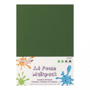 Купить Вспененная резина декоративная Green Multiple Pack, A4, Dovecraft, DCFM003