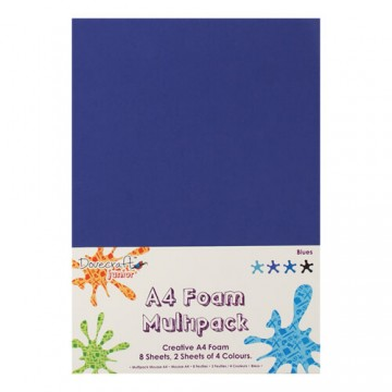 Купить Вспененная резина декоративная Blue Multiple Pack, A4, Dovecraft, DCFM002