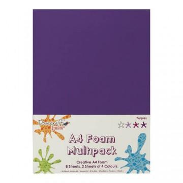 Купить Вспененная резина декоративная Purple Multiple Pack, A4, Dovecraft, DCFM006
