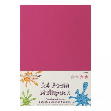 Купить Вспененная резина декоративная Pink Multiple Pack, A4, Dovecraft, DCFM005