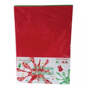 Купить Вспененная резина декоративная Christmas Multiple Pack, A4, Dovecraft, DCXFM002