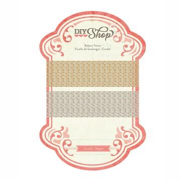 Купить золотой и серебряный декоративный шнурок DIY Shop, Crate Paper, 683145