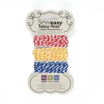 Купить шнурок SewEasy Fancy Floss Bakers Twine – Primary, 71158-2
