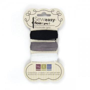 Купить нитки SewEasy Floss – Black, White & Greys, 71069-1