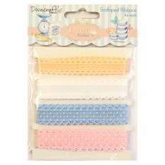 Набор лент Cupcake Boutique Lace Ribbon, Dovecraft, DCRB004