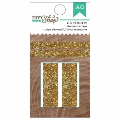 Клейкая лента с глиттером DIY Gold Glitter Tape, American Crafts, 369056