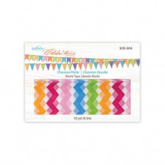 Бумажный скотч Washi Tape Chevron prints, Spellbinders, SCE-004