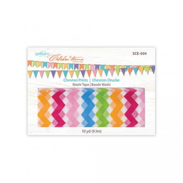 Купить бумажный скотч Washi Tape Chevron prints, Spellbinders, SCE-004