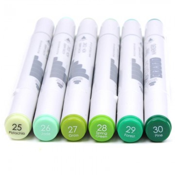 Купить Алкогольные маркеры Twin Markers – Greens, First Edition, FETMK005