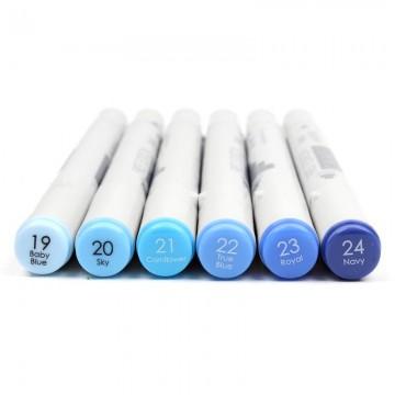 Купить Алкогольные маркеры Twin Markers – Blues, First Edition, FETMK004