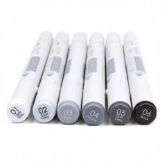 Алкогольные маркеры Twin Markers – Greys, First Edition, FETMK001