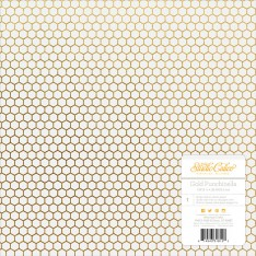 Лист кальки Lemonlush – Gold Punchinella, Studio Calico, 30х30 см, 331815