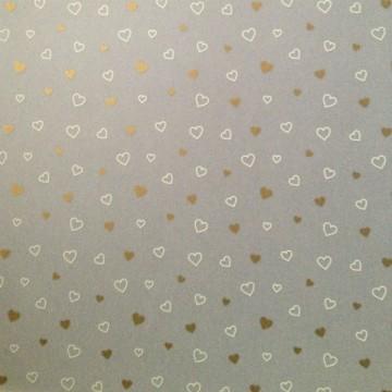 Купить Калька белые сердца с золотом, URSUS, UR-50694605R