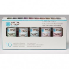 Набор красок Multi-Surface Pearl / Metallic Acrylic Craft Paint, Martha Stewart Crafts, 32310