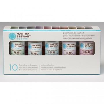 Купить Набор красок Multi-Surface Pearl / Metallic Acrylic Craft Paint, Martha Stewart Crafts, 32310