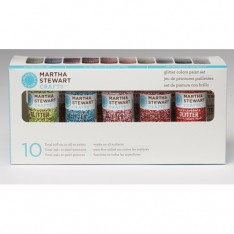 Набор красок Multi-Surface Glitter Acrylic Craft Paint, Martha Stewart Crafts, 32309