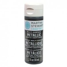 Краска Multi-Surface Metallic Acrylic Craft Paint – Gunmetal, 32990