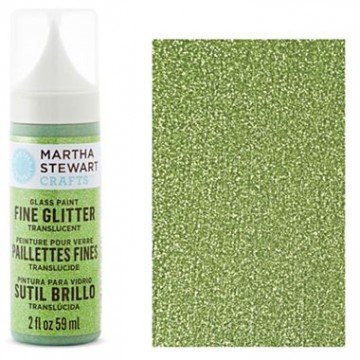Купить Краска Fine Glitter Translucent Glass Paint – Peridot, Martha Stewart Crafts, 33124