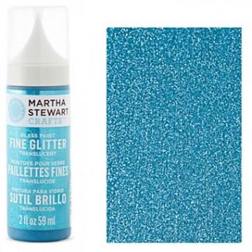 Купить Краска Fine Glitter Translucent Glass Paint – Lapis Lazuli, Martha Stewart Crafts, 33126
