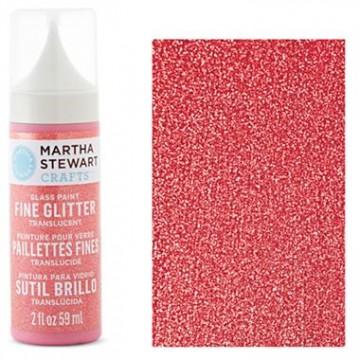 Купить Краска Fine Glitter Translucent Glass Paint – Candy Apple, Martha Stewart Crafts, 33129
