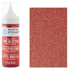 Краска Fine Glitter Translucent Glass Paint – Garnet, Martha Stewart Crafts, 33130