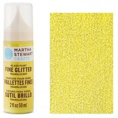 Краска Fine Glitter Translucent Glass Paint – Lemon Drop, Martha Stewart Crafts, 33152