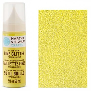 Купить Краска Fine Glitter Translucent Glass Paint – Lemon Drop, Martha Stewart Crafts, 33152