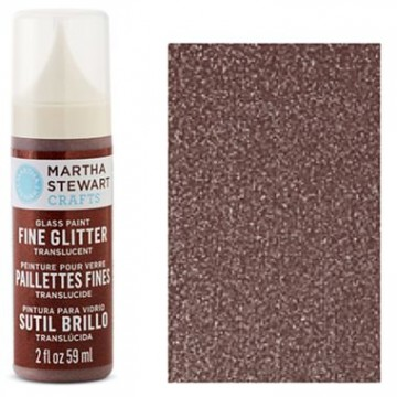 Купить Краска Fine Glitter Translucent Glass Paint – Brownstone, Martha Stewart Crafts, 33153