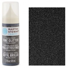Краска Fine Glitter Translucent Glass Paint – Obsidian, Martha Stewart Crafts, 33154