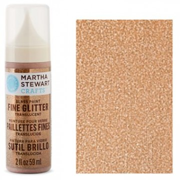 Купить Краска Fine Glitter Translucent Glass Paint – Copper, Martha Stewart Crafts, 33160