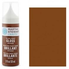 Краска Gloss Opaque Glass Paint - Chesnut Brown, Martha Stewart Crafts ™, 33116