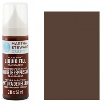 Купить краску Liquid Fill Transparent Glass Paint – Gingersnap, Martha Stewart Crafts™, 33220