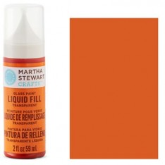 Краска Liquid Fill Transparent Glass Paint – Monarch Orange, Martha Stewart Crafts™, 33213