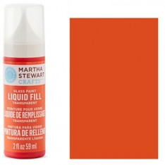 Краска Liquid Fill Transparent Glass Paint – Red Coral, Martha Stewart Crafts™, 33212