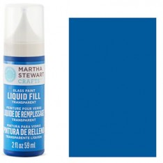 Краска Liquid Fill Transparent Glass Paint – Blue Bonnet, Martha Stewart Crafts™, 33206