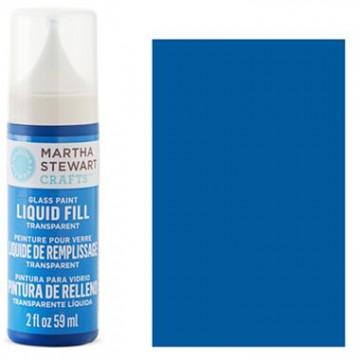 Купить краску Liquid Fill Transparent Glass Paint – Blue Bonnet, Martha Stewart Crafts™, 33206