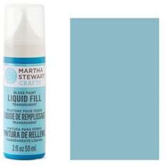 Краска Liquid Fill Transparent Glass Paint – Polar Blue, Martha Stewart Crafts™, 33205