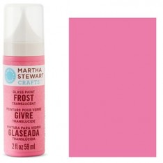 Краска Frost Translucent Glass Paint – Bubble Gum, Martha Stewart Crafts™, 33191